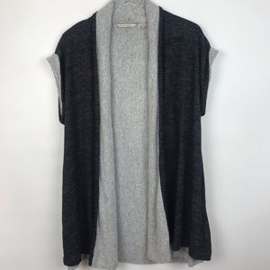 Soft Surroundings Color-Block Sleeveless Cardigan